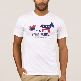 T-shirt Je joue la politique : Grondement politique