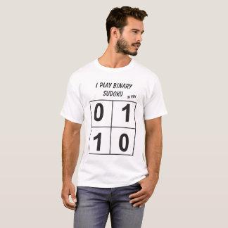 T-shirt Je joue le sudoku binaire