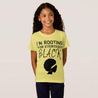 """T-Shirt """"Je la pièce en t 3 de la fille enracine pour tout"""