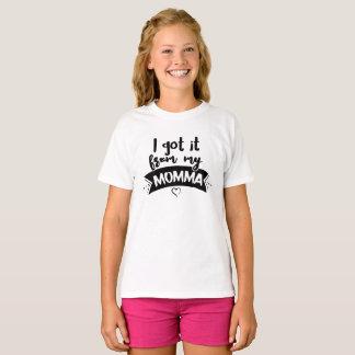 T-shirt Je l'ai obtenu de ma maman