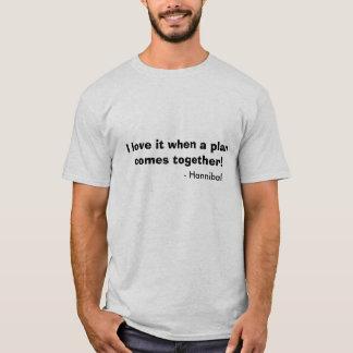 T-shirt Je l'aime quand un plan vient ensemble ! , -