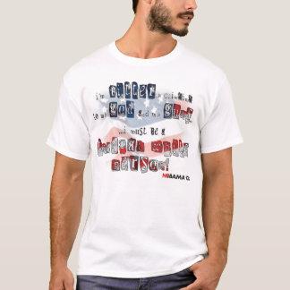 T-shirt Je m'accroche amèrement à mon dieu et à mes armes