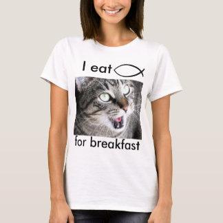 T-shirt Je mange des poissons de Jésus pour le petit