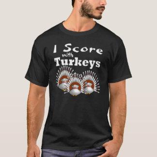 T-shirt Je marque avec des dindes