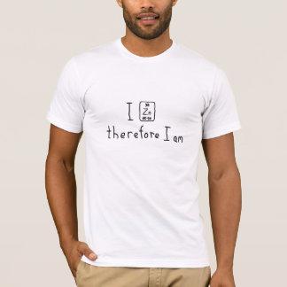 T-shirt Je me zingue donc suis chemise de calembour de
