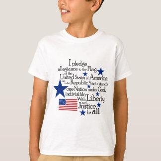 T-shirt Je mets en gage l'allégeance au drapeau du uni
