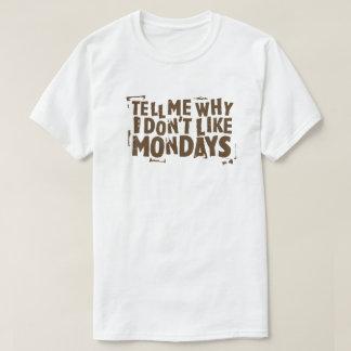 T-shirt Je n'aime pas la typographie de culture pop de