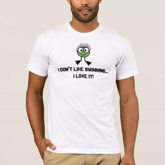 T-shirt Je n'aime pas nager. - Caractère vert de bain