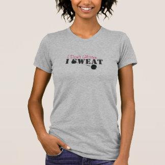 T-shirt Je ne scintille pas…, j'ai sué