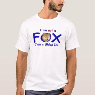T-shirt Je ne suis pas un Fox que je suis un Shiba Inu