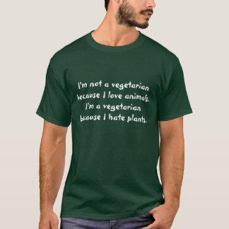 T-shirt Je ne suis pas un végétarien parce que j'aime des
