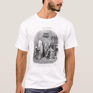 T-shirt Je n'engage pas des personnes avec des enfants