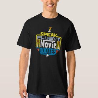 T-shirt Je parle l'avant de chemise fluide de citations de