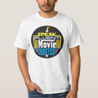 T-shirt Je parle l'avant rond de film de chemise fluidee