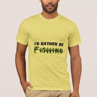 T-shirt Je pêcherais plutôt