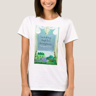 T-shirt Je peux faire tout des choses par le Christ qui