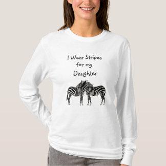 T-shirt Je porte des rayures pour ma chemise de conscience