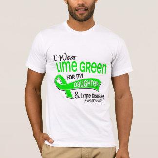 T-shirt Je porte la maladie de Lyme de fille du vert de