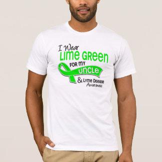 T-shirt Je porte la maladie d'oncle Lyme du vert de chaux