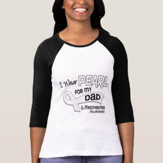 T-shirt Je porte la perle pour mon mèsothéliome du papa 42