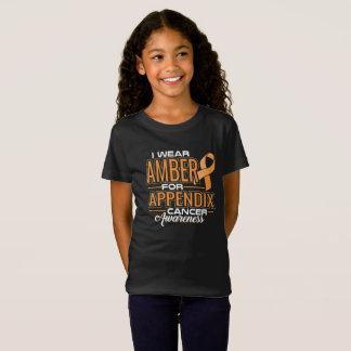 T-Shirt JE PORTE L'AMBRE POUR LA CONSCIENCE DE CANCER
