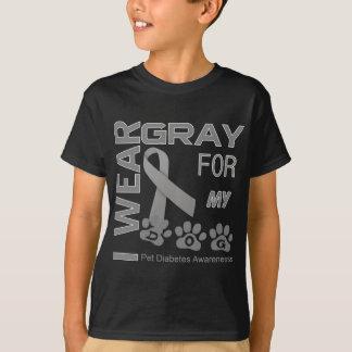 T-shirt Je porte le gris pour ma conscience Appa de