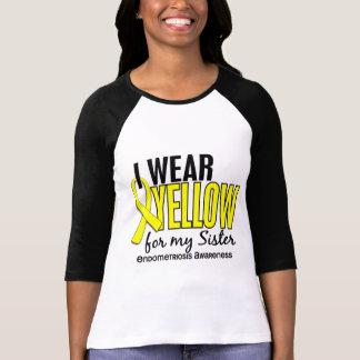 T-shirt Je porte le jaune pour ma endométriose de la soeur
