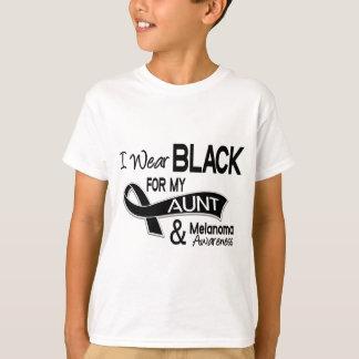 T-shirt Je porte le noir pour ma tante 42 mélanome