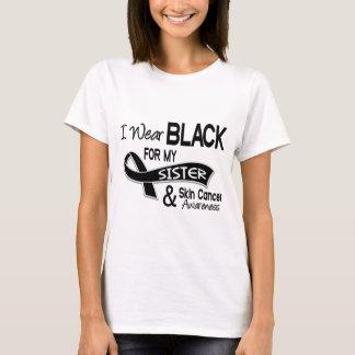 T-shirt Je porte le noir pour mon cancer de la peau de la