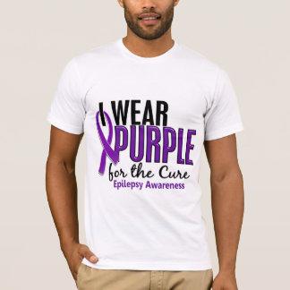 T-shirt Je porte le pourpre pour l'épilepsie du traitement