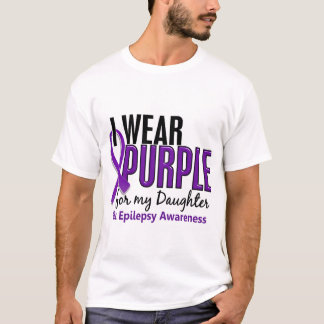 T-shirt Je porte le pourpre pour ma épilepsie de la fille