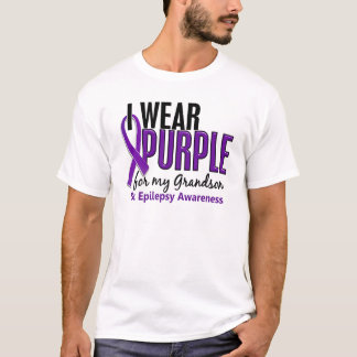 T-shirt Je porte le pourpre pour ma épilepsie du