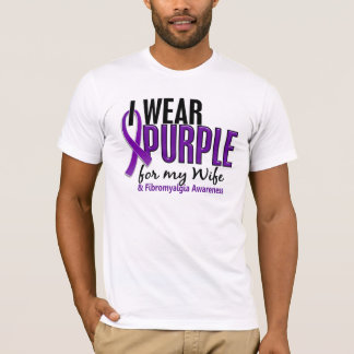 T-shirt Je porte le pourpre pour ma fibromyalgie de