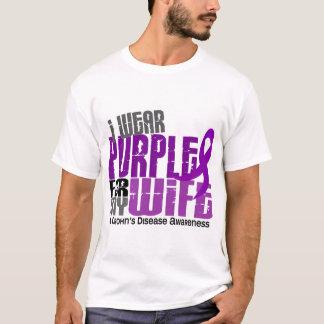 T-shirt Je porte le pourpre pour ma maladie de Crohn de