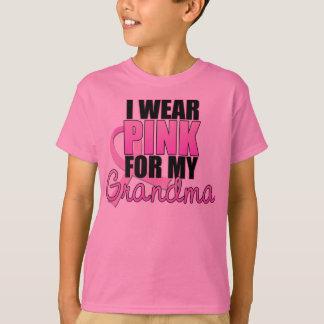 T-shirt Je porte le rose pour ma grand-maman - cancer du
