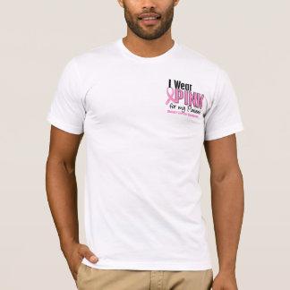 T-shirt Je porte le rose pour mon cancer du sein des