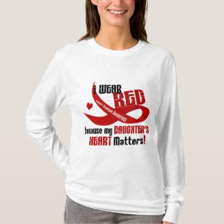 T-shirt Je porte le rouge pour ma fille 33