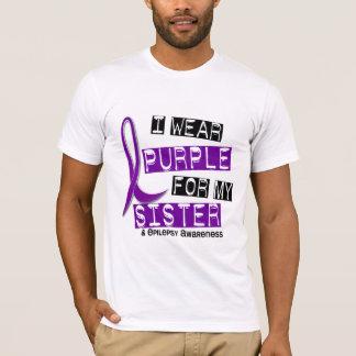 T-shirt Je porte l'épilepsie pourpre de soeur