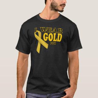T-shirt Je porte l'or pour le modèle