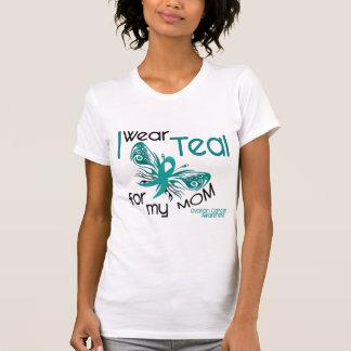 T-shirt Je porte Teal pour mon Cancer ovarien de la maman