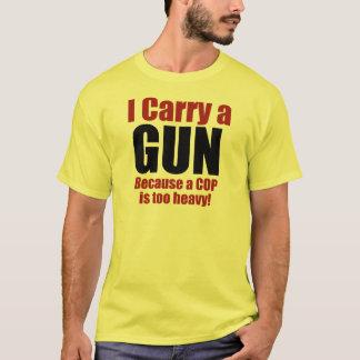 T-shirt Je porte un pistolet