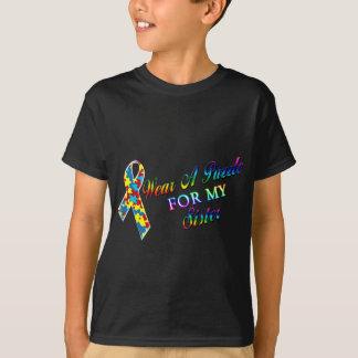 T-shirt Je porte un puzzle pour ma soeur