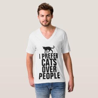 T-shirt JE PRÉFÈRE des CHATS AU-DESSUS des PERSONNES,