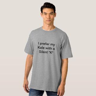 T-shirt Je préfère mon chou frisé avec du K silencieux