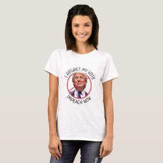 T-shirt Je regrette mon vote, anti chemise d'atout