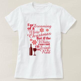 T-shirt Je rêve de Noël blanc