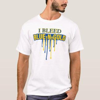 T-shirt Je saigne le bleu et l'or