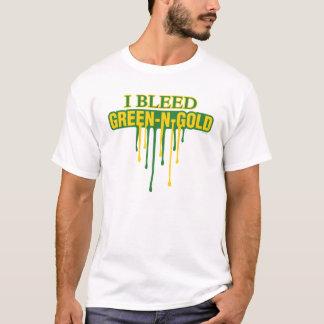 T-shirt Je saigne le vert et l'or
