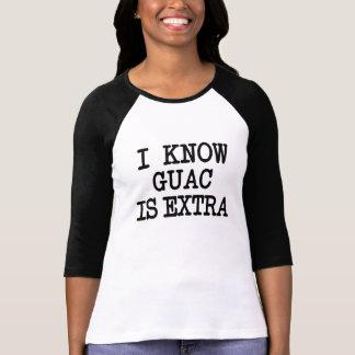 T-shirt Je sais que Guac est guacamole extra drôle