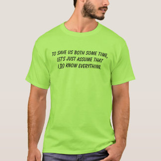 T-shirt Je sais tout